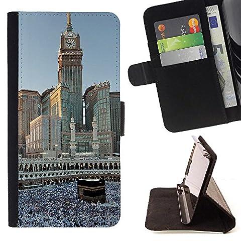 FJCases Mekka Saudi Arabien Postkarte Aussicht Tasche Brieftasche Hülle Schale Standfunktion Schutzhülle für Motorola Droid Turbo 2