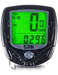 iRegro Fahrradcomputer, Original wasserdicht drahtloser Kilometerzähler, LCD-Hintergrundbeleuchtung-Bewegung-Sensor im Freien, das Realtime Speed Tracking