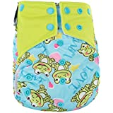 BEESCLOVER Washable Reusable Printed Dipper Pants Breathable Leakproof Nappy Size Can Be Adjusted A56