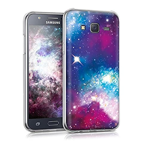 kwmobile Hülle für Samsung Galaxy J5 (2015) - TPU Silikon Backcover Case Handy Schutzhülle - Cover klar Space Design Mehrfarbig Pink