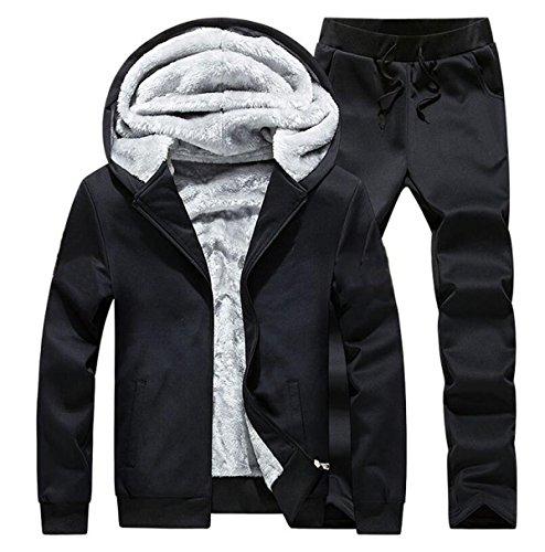 XXZTQ Abbigliamento Casual Per Uomo Vestito Di Sport Leggeri Black