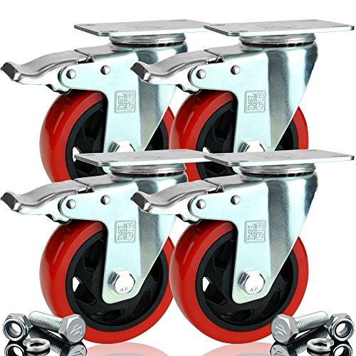 4-x-heavy-duty-double-bearing-braked-100mm-rubber-swivel-castor-wheel-trolley-caster-700kg-free-fitt