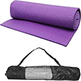 Gold Leaf 24 X 68 inch Exercise, Gym & Yoga Mat 6 mm Purple with carry bag