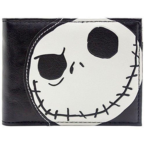 Tim Burton Nightmare Before Christmas Geprägte Jack Skellington Schwarz Portemonnaie Geldbörse (Für Einzigartige Zwei Halloween-kostüme)