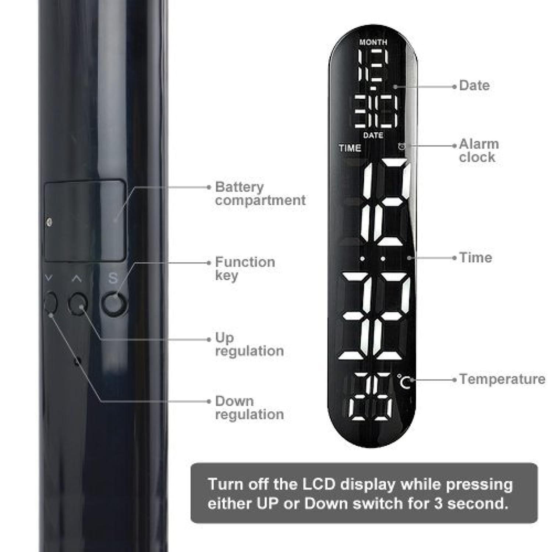 Bestek Lampe De Bureau Led Tactile Avec Calendrier Thermometre Heure