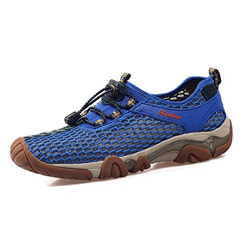 LXXAMens Estate All'aperto Atletico Scarpe Da Trekking Asciugatura Rapida Mesh Traspirante Facile Fissare Sandalo Calzature Sportive Blue
