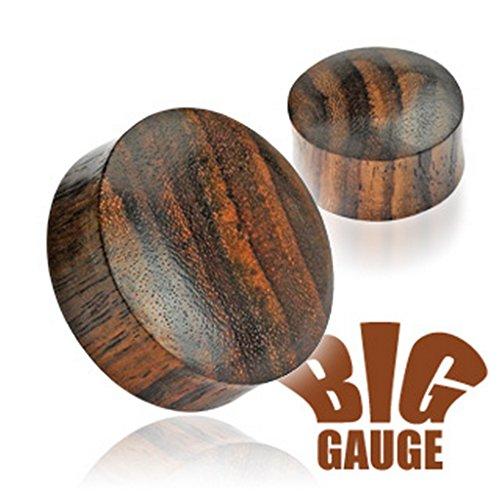 Piercing plug en bois organique Taille 37,5 mm