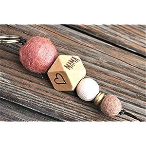 Schlüsselanhänger mit Name oder Wort // Weihnachtsgeschenk // MUM //Hochzeitsgeschenk // Muttertag // Schlüsselanhänger // MAMA // personalisierbar // pro Seite 5 Buchstaben möglich