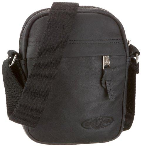 Eastpak The One Bolso Bandolera, Diseño Leather, Color Negro