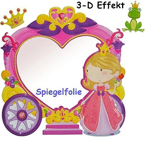 3-D Effekt _ Kinder Spiegel / Wandspiegel mit Spiegelfolie -