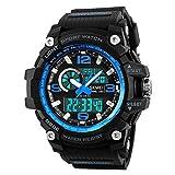 Reloj Deportivo Digital para Hombre, Pantalla OLED, Militar, de Supervivencia, Resistente al Agua, Reloj de Pulsera