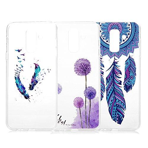 für Samsung Galaxy A6 Plus 2018 Hülle Silikon Case Handyhülle Schutzhülle Transparent Stoßdämpfend Handytasche Cover Malen Tasche TPU Silikon Durchsichtige Rückhülle Skin Schale Wind Spiele