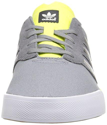 Adidas Skateboarding Triad Noir / blanc / gomme Sneaker 4 D (m) Grey/Dark Grey Heather Solid Grey/Solar Yellow
