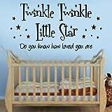 Twinkle Twinkle Little Star Quote Decal Vinyl Wall Sticker
