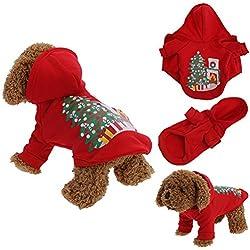 La Cabina Vêtement Chien Noël Deguisement pour Chien Pas Cher Pull Doudoune pour Chien en Hiver