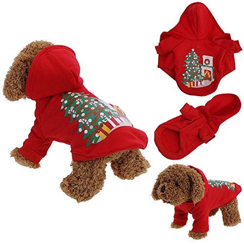 Pb peggybuy Pet Hund Weihnachten Kleidung Kleidung, Teddy-Jacke für Herbst und Winter Shirt Festival Pullover Rot, xl (Halloween-herbst Festival-aktivitäten)