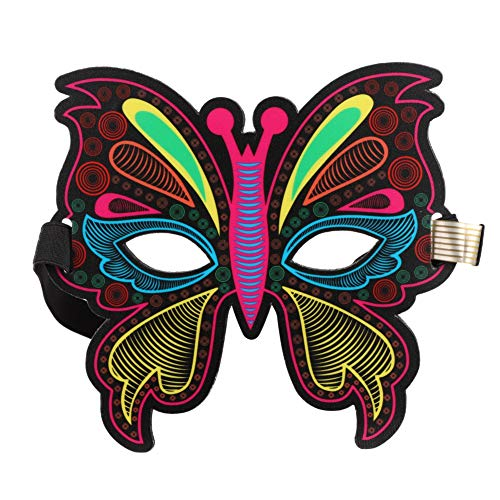 Halloween Maske Leuchtmaske für Erwachsene, Maske für Kostümparty, Weihnachten, Cosplay, Grimassenfest, Party (Michaels Maskerade Masken)