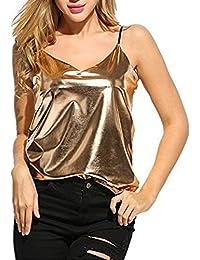 Sommer Strand Vest Damen Mode Reizvolle V-Kragen Oberteile ärmellos Hemden  Schulterfrei Top Einfarbig Sportweste 3aeb0c4059
