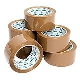 Pakit Lot de 6rouleaux de ruban d'emballage adhésif ultra collant Marron 48mm x 66m par Pakit.