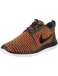 Nike Men's Roshe Two Flyknit Black/Black/White/Max Orange Running Shoe 9 Men US