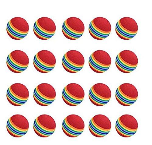 pratiquer Balles de golf, 20pcs, mousse, arc-en-ciel de couleurs, pour l'intérieur/l'extérieur de...