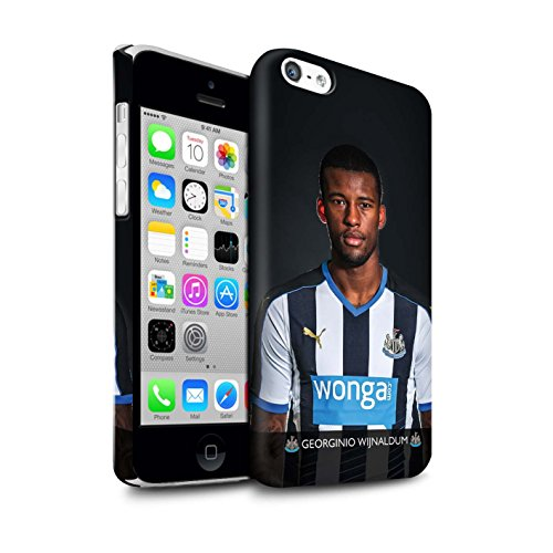 Offiziell Newcastle United FC Hülle / Matte Snap-On Case für Apple iPhone 5C / Pack 25pcs Muster / NUFC Fussballspieler 15/16 Kollektion Wijnaldum