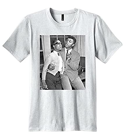 Triumph turn Men's Muhammad Ali and Stevie Wonder photo T-shirt
