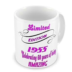 Limited Edition zum 60. Geburtstag Geschenk-Tasse-design.