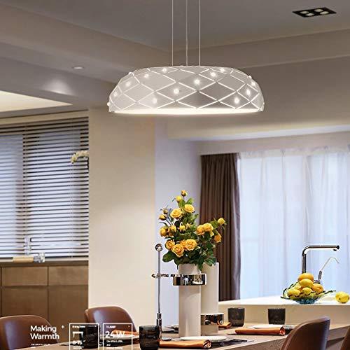 BYDXZ Lampadario a sospensione a LED moderno Lampadario a sospensione moderno Soggiorno creativo Sala da pranzo Studio lampada a sospensione Elegante bianco rotondo Acrilico alluminio decorativo Illum