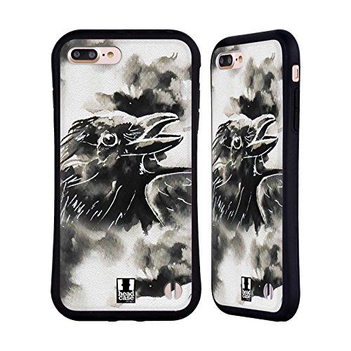 Head Case Designs Zebra Animali Bianco E Nero Case Ibrida per Apple iPhone 7 / 8 Corvo