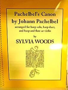 Johann Pachelbel: Pachelbel's Canon (Harp). Partitions pour Harpe, Flûte Traversière, Violon