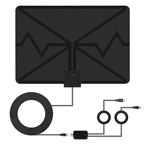 LEMAIKJ TV Antenne Indoor, HD digitaler Full HD Kabel Receiver für digitales Kabelfernsehen (DVB-C / C2,HDTV, HDMI, SCART, Mediaplayer, USB 2.0, 1080p) (Digital-hd-verstärkt-antenne)