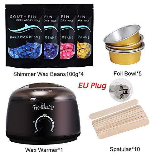 Mutter beste Geschenke für Frauen !!! Beisoug 4 Set Wachs Wärmer Heizung Pot Machine Kit 400g Wachs Bohnen 10 stücke Perle Licht Haarentfernung Wachs Maschine Sticks