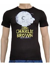 LOGOSH!RT Peanuts Retro Comic Herren T-Shirt CHARLIE BROWN HEAD - BRAUN Gr. S (L13)