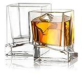 Joyjolt carrés 2pièces Verres à Whisky de 283,5gram en verre à whisky