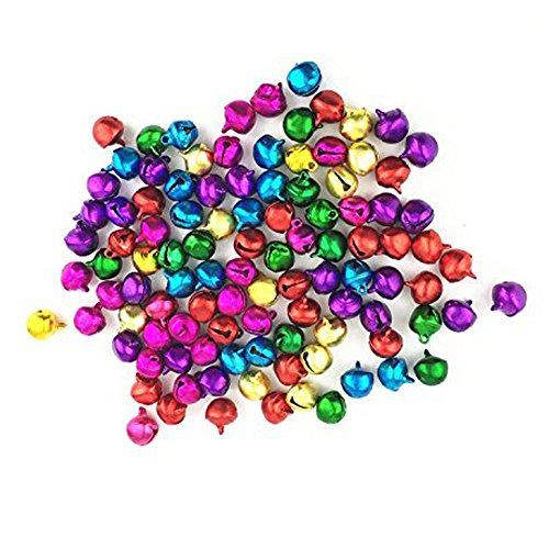 Westeng ensemble de 100 grelots multicolores, fournitures pour loisirs créatifs, Noël, 10 mm