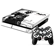 Elton Batman Arkham Knight Black Theme 3M Skin Sticker Cover For PS4 Console And Controllers