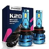 KOOMTOOM Mini Bombillas Led 9012 HIR2 Kits de conversión de la bombilla de la linterna LED 5000K CREE Chip 360 grados Patrón de haz ajustable 8000Lm 55W 1 año de garantía
