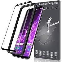 LK Pellicola Protettiva per Samsung Galaxy S9 Plus [3D Copertura Completa], [1 Pack] Protezione Schermo Vetro Temperato [Installazione Semplice di Alignment Frame] [Bubble Free] Screen Protector-Nero