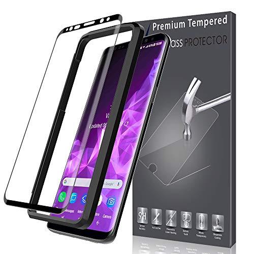 LK [1 Stück] Schutzfolie für Samsung Galaxy S9 Plus, Samsung Galaxy S9 Plus Panzerglasfolie, [Vollständige Abdeckung] Anti-Kratzer, Anti-Bläschen, HD Klar [Lebenslange Ersatzgarantie]