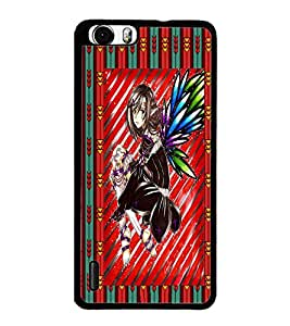 PrintDhaba Sweet Girl D-3084 Back Case Cover for HUAWEI HONOR 6 (Multi-Coloured)