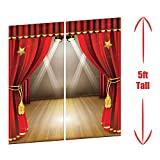 Theatre Stage Scene Setter Spotlight Oscar Movies Award Night Wall Hanging Party Backdrop Decoration