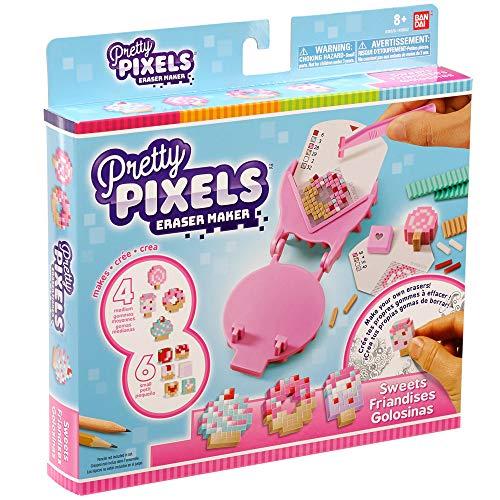 Bandai - Pretty Pixels - Krazy Pixels - Fabrique à gommes - Set de démarrage - Thème friandises - Loisirs créatifs - 38522
