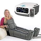 VEIN ANGEL PREMIUM Apparecchio massaggiante per gambe & addome :: massaggio a onde con 4 cuscinetti d'aria per piedi, pancia e vita :: 3 programmi + telecomando