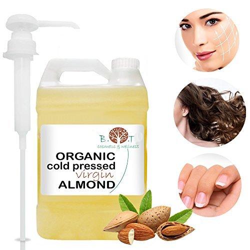 Olio Biologico di Mandorle Dolci Spremuto a Freddo - Olio di Barba, Ciglio, Chiodo, Olio per i Capelli 100% Pure  Viso & Corpo (5000 ml)
