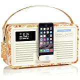 VQ Retro Mk II DAB/DAB+ Digital- und FM-Radio mit Bluetooth, Apple Lightning Dock und Weckfunktion - Emma Bridgewater Marmelade