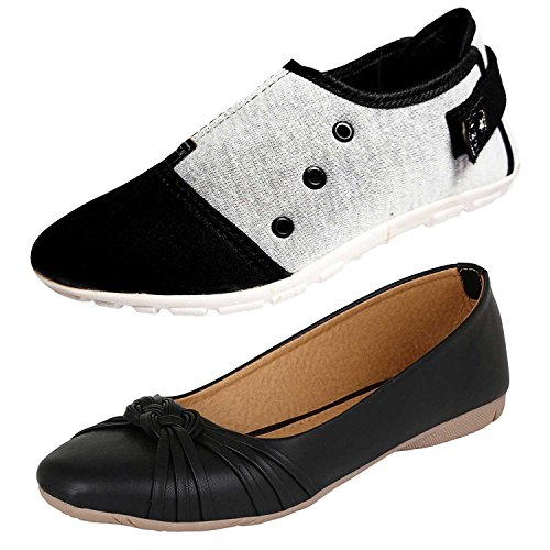 Ziaula Woman Casual Shoe and Belly Combo Pack