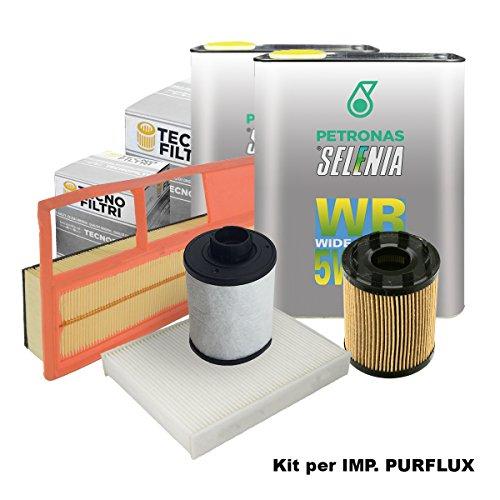 Tecno Filtri KIT-10X/1SE Kit Tagliando con olio motore Selenia WR 5W40 (Impianto Purlfux)