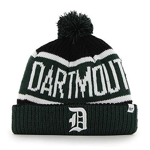 Dartmouth College Big Green Cuff Calgary Beanie Hat with Pom - NCAA Cuffed Winter Knit Toque Cap by '47