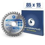 FALKENWALD ® - Lama per Sega Circolare 85 x 15 mm - Ideale per Legno - Metallo e Alluminio - Compatibile con Bosch & Makita